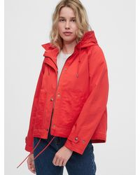 Gap Cropped Anorak - Red