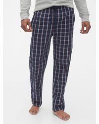 Gap Pajama Pants In Poplin - Blue