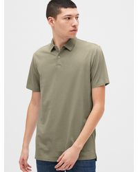 Gap Vintage Soft Polo Shirt Shirt - Green