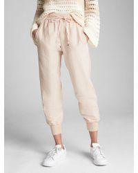 Gap Drawstring Sweatpants In Linen - Natural