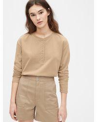 Gap - Originals Mariner Henley Long Sleeve T-shirt - Lyst