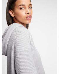 Gap Waffle-knit Hoodie - Gray