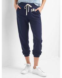 Gap French Terry Logo Sweatpants - Blue