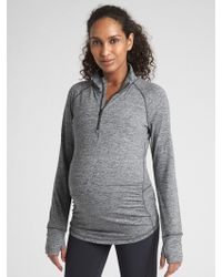 Gap Maternity Fit Half-zip Pullover Sweatshirt - Gray