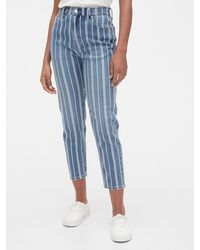 Gap High Rise Mom Jeans - Blue