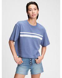 Gap Boxy Cropped T-shirt - Blue