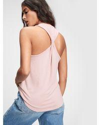 Gap Softspun Twistback Tank Top - Pink