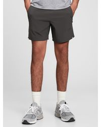 Gap Fit Recycled Running Shorts - Grey