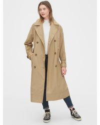 Gap Twill Trench Coat - Natural