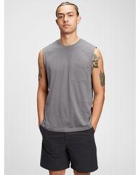 Gap 100% Organic Muscle T-shirt - Gray
