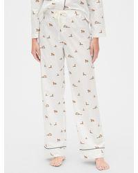 Gap Print Pajama Pants In Poplin - Multicolor