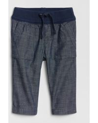 Gap Chambray Utility Pull-on Pants - Blue