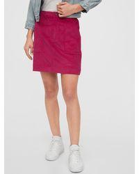 Gap Corduroy Mini Skirt - Pink