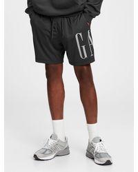 Gap Logo Mesh Shorts - Black