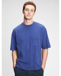 Gap Oversized Pocket T-shirt - Blue