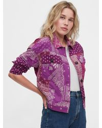 Gap The 1969 Collection Patchwork Jacket - Purple
