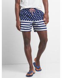 "Gap Americana Swim Trunks (5.5"") - Multicolor"