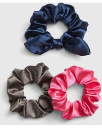 Gap Satin Hair Tie (3-pack) - Blue
