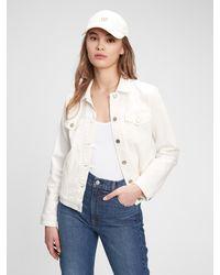 Gap Icon Denim Jacket With Washwelltm - White