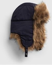 bc1f6283dd0 Lyst - Woolrich Plaid Arctic Trapper Hat With Faux-fur Earflaps in ...