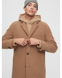 Gap Wool Topcoat - Brown