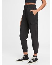 Gap Fit Runaround Cargo Sweatpants - Black