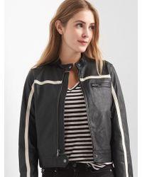 Gap Leather Biker Jacket - Black