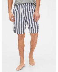 Gap Pajama Shorts In Poplin - Blue