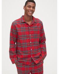 Gap Flannel Pajama Set - Red