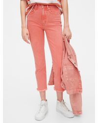 Gap High Rise Cigarette Jeans With Secret Smoothing Pockets - Pink