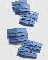 Gap Family Unisex Full-coverage Accordion Mask (8-pack) - Blue