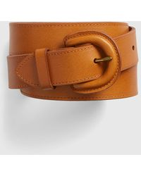 Gap Leather Cover Buckle Belt - Brown