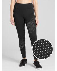 b3d15cc595 Lyst - GAP Factory Gapfit Blackout V-waist Shine Print Leggings in Black