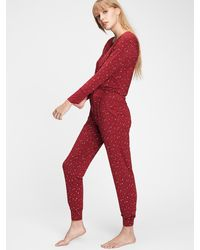 Gap Adult Lounge Sweatpants In Modal - Red