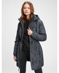 Gap Fit Recycled Padded Parka - Black