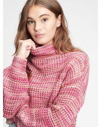 Gap Space-dye Mockneck Sweater - Pink