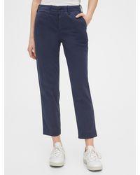 Gap High Rise Straight Khakis With Washwelltm - Blue