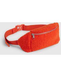 Gap Sherpa Fleece Belt Bag - Orange