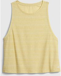 Gap Fit Breathe Cropped Muscle Tank Top - Yellow