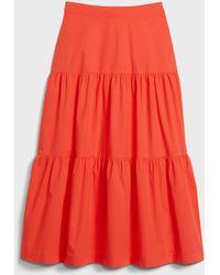 Gap Tiered Maxi Skirt - Multicolor