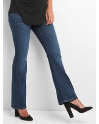 Gap Maternity Demi Panel Perfect Boot Jeans - Blue