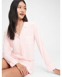 Gap Pajama Shirt In Modal - Pink