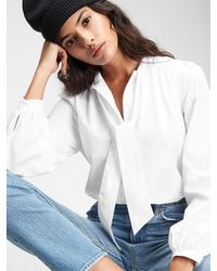 Gap Bow-front Top - White