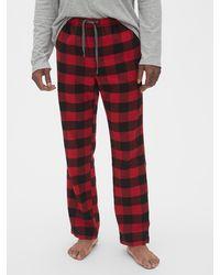 Gap Flannel Pajama Pants - Red