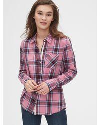 Gap Flannel Shirt - Pink
