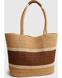 Gap Straw Tote Bag - Brown