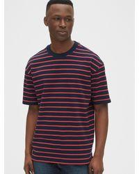 Gap Easy Heavyweight Stripe T-shirt - Blue