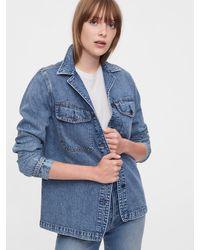 Gap Denim Shirt Jacket - Blue