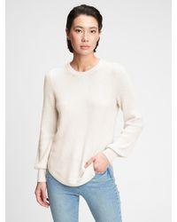 Gap True Soft Textured Crewneck Sweater - White