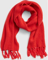 Gap Cozy Fringe Scarf - Red